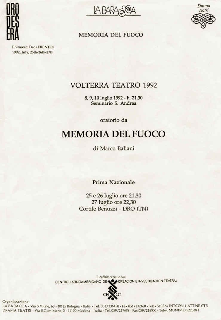 MEMORIA DEL FUOCO